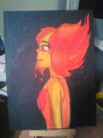Flame Princess painting by Ribbonthecat