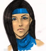 Kitana sketch by skyboy16