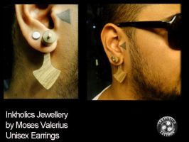Wooden Jewellery - Earing - Inkholics by ketology