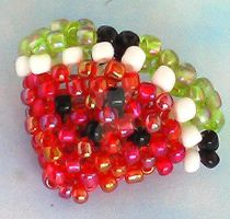 Beaded watermelon by Craftcove