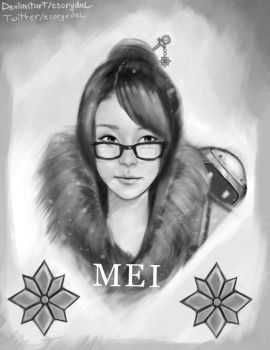 Mei Overwatch fanart by Esorydal