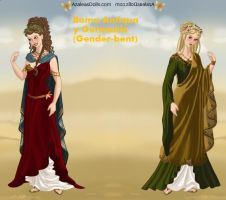 Roman Lady: Roma and Germania by HC-IIIX