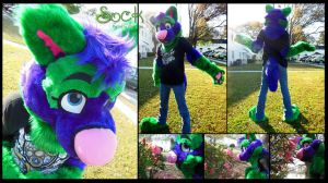 Sock Partial commission by ElkDragon