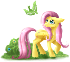 Mane Six - Fluttershy by KittehKatBar