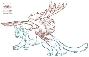 Leaping Auri Sketch by joanniegoulet