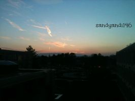 Project 365, Day 181: Sunset at School by sandyandi146