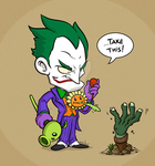 Joker vs Zombies by Sarcix82