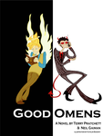 Good Omens cover design by kbakonyi