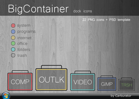 BigContainer dock icons by Carburator