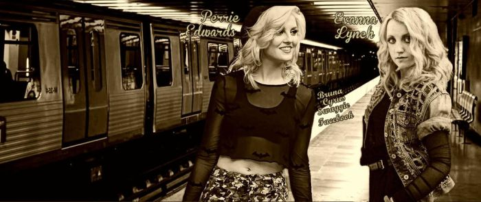 Perrie(Little Mix) n Evanna(HPotter)-CoverFacebook by BrunaBiebsMalikSykes