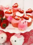 Adorable Strawberry Mini Cupcakes by theresahelmer