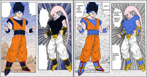 fake color gokhan vs buuvegeta by Naruttebayo67