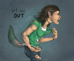 let me out. by lycanthropeful