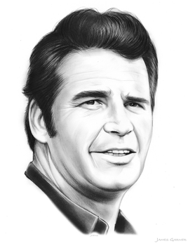 James Garner by gregchapin