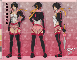 Amazon Rose character sheet by bulletproofturtleman
