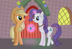 Hearts and Hooves day necklaces by stratusxh