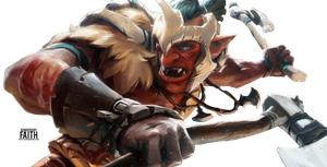 Dota 2 - Troll Warlord Render by Faith-LV