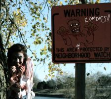 Zombie Close up sign by Yuroboros