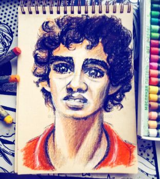 Portrait sketch Nathan Young by Art-kroha