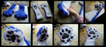 Husky Handpaws with Lycra Lining by CuriousCreatures