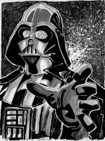 Sketch 001 of 100 DARTH VADER by misfitcorner