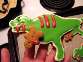 Dinosaur Gingerbread Cookies by Lovesmut