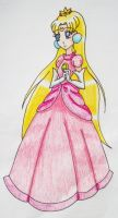 Usagi as Princess Peach by Punisher2006