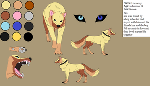 ref sheet for wolfwisher1000 by lioness728