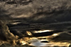 Surreal clouds at sunset HDR by Luks85