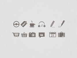 Monochrome icons by JackieTran