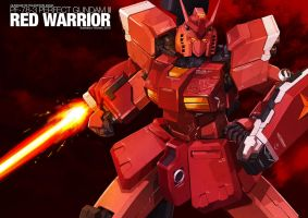 Perfect Gundam III RED WARRIOR by kzchan