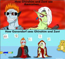 How Ganondorf Sees Ghirahim and Zant by TheTrippyTippy