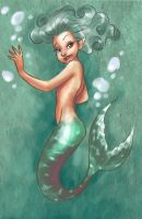 teen mermaid by lucasgomes