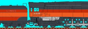 Southern Pacific GS4 4449 by carsdude