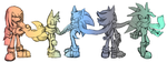 Team Sonic and Three Hedgehog by chellchell