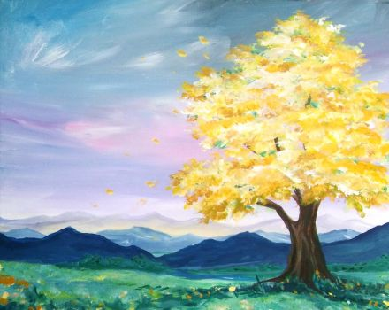 The Yellow Tree by sythesite