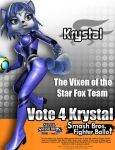 Krystal for Smash 4 by TheHope18