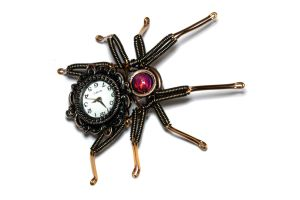 Steampunk Spider Watch Lapel Pin by CatherinetteRings