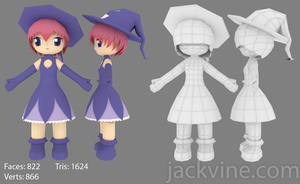 Witch Character Render by x-MidnightAura-x