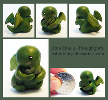 Tiny Cthulu - Thoughftul - SOLD by Bittythings