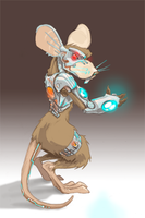Bionic Mouse by cardboardshark