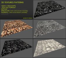 Free 3D textures pack 25 by Nobiax