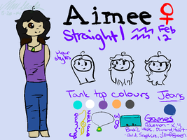 Human!Aimee Reference Sheet by MintIeafs