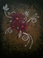Flower Abstract Painting Print by debbynaomi