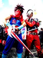 Ash crimson cosplay vs strider by stormclyde