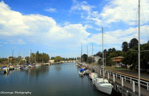 The Harbour and River at Port Fairy by Okavanga