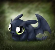 Chibi Toothless the Dragon by A113Panda