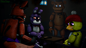 Come on! It was just for fun!-Foxy(Until Dawn) by TalonDang