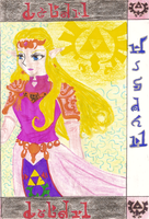 My fifth drawing of Zelda by Ladybrenes