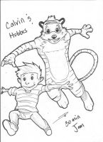 Calvin and Hobbes by Dericules